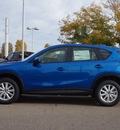 mazda cx 5 2014 lt  blue suv sport gasoline 4 cylinders all whee drive automatic 80504
