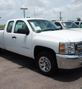 chevrolet silverado 1500 2013 white pickup truck work truck flex fuel 8 cylinders 2 wheel drive automatic with overdrive 77627
