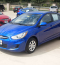 hyundai accent 2013 dk  blue sedan gls gasoline 4 cylinders front wheel drive automatic 75070