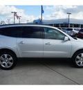 chevrolet traverse 2012 silver suv ltz gasoline 6 cylinders all whee drive 6 speed automatic 77090