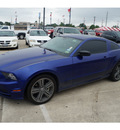 ford mustang 2013 blue coupe v6 gasoline 6 cylinders rear wheel drive automatic 77090