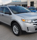 ford edge 2013 silver se gasoline 6 cylinders front wheel drive automatic 77375