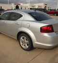 dodge avenger 2012 silver sedan sxt gasoline 4 cylinders front wheel drive automatic 77375