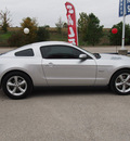 ford mustang 2011 silver coupe gt gasoline 8 cylinders rear wheel drive 6 speed manual 77375