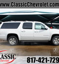 chevrolet suburban 2014 white suv ls 1500 8 cylinders automatic 76051