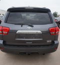 toyota sequoia 2013 gray suv limited gasoline 8 cylinders 2 wheel drive 6 speed automatic 76053