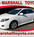 toyota corolla 2009 white sedan s 4 cylinders automatic 75672