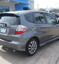 honda fit 2013 dk  gray hatchback sport gasoline 4 cylinders front wheel drive shiftable automatic 77566