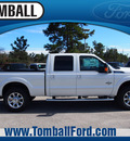 ford f 250 super duty 2014 off white lariat biodiesel 8 cylinders 4 wheel drive automatic 77375