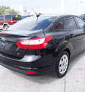 ford focus 2012 black sedan se flex fuel 4 cylinders front wheel drive automatic with overdrive 77539