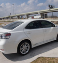 lexus hs 250h 2010 white sedan 4dr sdn hybrid premium hybrid 4 cylinders front wheel drive automatic 77074