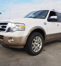 ford expedition 2014 white platinum tric suv king ranch flex fuel 8 cylinders 2 wheel drive automatic 77521