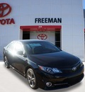 toyota camry 2014 black sedan se gasoline 4 cylinders front wheel drive 6 speed automatic 76053