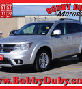 dodge journey 2013 silver sxt flex fuel 6 cylinders all whee drive automatic 79110