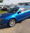 ford fusion 2012 blue sedan sel flex fuel 6 cylinders front wheel drive automatic with overdrive 77539