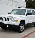 jeep patriot 2012 white suv sport gasoline 4 cylinders 4 wheel drive automatic 76051