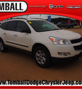 chevrolet traverse 2012 white ls gasoline 6 cylinders front wheel drive automatic 77375