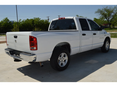 dodge ram 1500 2006 white pickup truck slt 8 cylinders automatic 76234