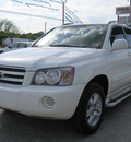 toyota highlander 2003 white suv gasoline 6 cylinders front wheel drive automatic 77379