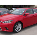 lexus ct 200h 2014 red hatchback hybrid 4 cylinders front wheel drive cvt 77546