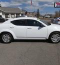 dodge avenger 2012 white sedan se gasoline 4 cylinders front wheel drive automatic 13502