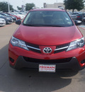 toyota rav4 2013 red suv le 4 cylinders automatic 76053
