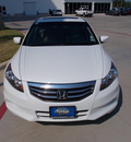 honda accord 2011 white sedan ex v6 gasoline 6 cylinders front wheel drive automatic 75606