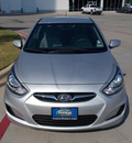 hyundai accent 2013 silver sedan gls gasoline 4 cylinders front wheel drive automatic 75606