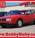 cadillac allante 1989 red v8 automatic 79110