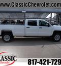 chevrolet silverado 3500hd 2015 white work truck flex fuel 8 cylinders 4 wheel drive automatic 76051