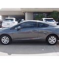 honda civic 2012 dk  gray coupe lx gasoline 4 cylinders front wheel drive automatic 77546