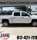 chevrolet silverado 1500 2014 white lt flex fuel 8 cylinders 2 wheel drive automatic 76051