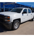 chevrolet silverado 1500 2014 white work truck flex fuel 8 cylinders 4 wheel drive automatic 76051